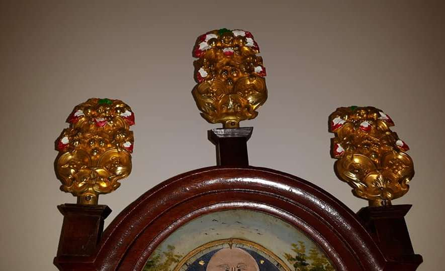 Rozetten van een Friese klok