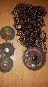 Versleten sporenset Friese klok