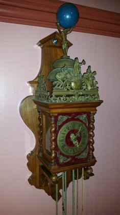 Zaanse klok van klokkenmaker Cornelis van Rossen Koog aan de Zaan 1900