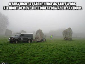 Zomertijd bij Stonehenge